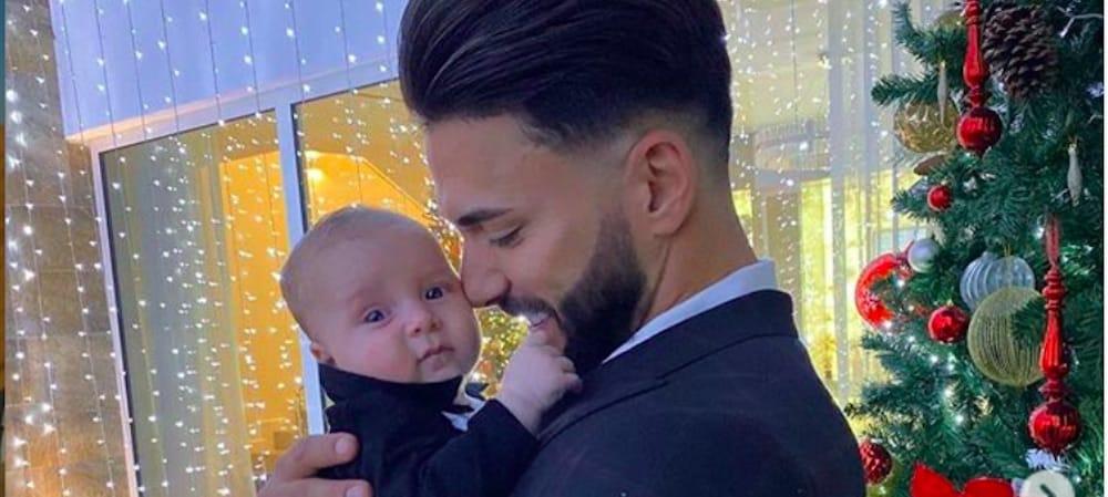 Thomas Vergara papa pressé- il veut déjà jouer avec son fils Milann 31122019-