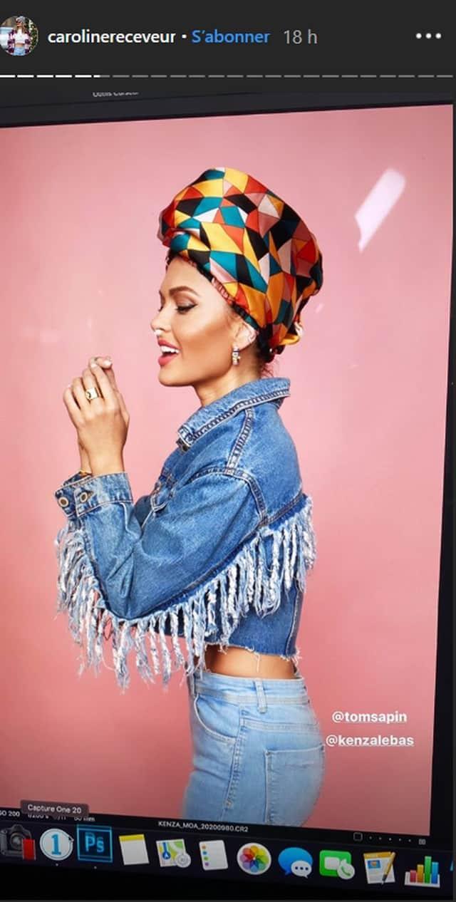 Caroline Receveur splendide: le turban lui va à la perfection ! (PHOTO)
