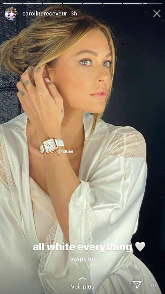 Caroline Receveur en total look blanc: elle fait l'unanimité sur Instagram !