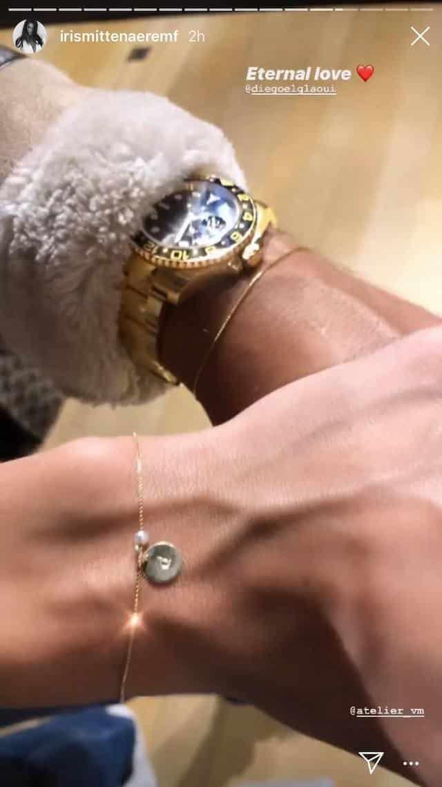 Iris Mittenaere et Diego El Glaoui scellent leur amour avec un bracelet !