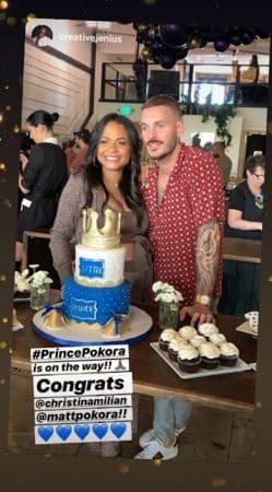 M Pokora et Christina Milian organisent une baby shower avant l'arrivée de leur fils ! (PHOTO