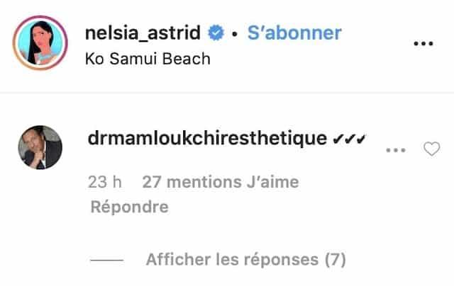 Astrid Nelsia dévoile ses fesses sur Instagram: son chirurgien réagit !