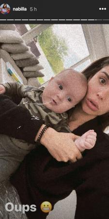 Nabilla maman: elle se fait vomir dessus par Milann ! (PHOTO)
