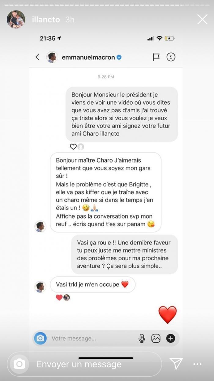 Illan (Les Anges 12) dévoile sa conversation avec Emmanuel Macron !