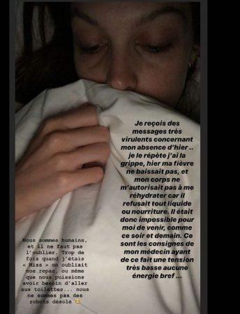 Iris Mittenaere très souffrante: elle se fait lyncher sur Instagram !