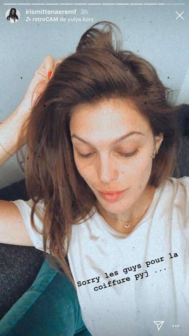 Iris Mittenaere au naturel: elle se dévoile en pyjama sur Instagram !