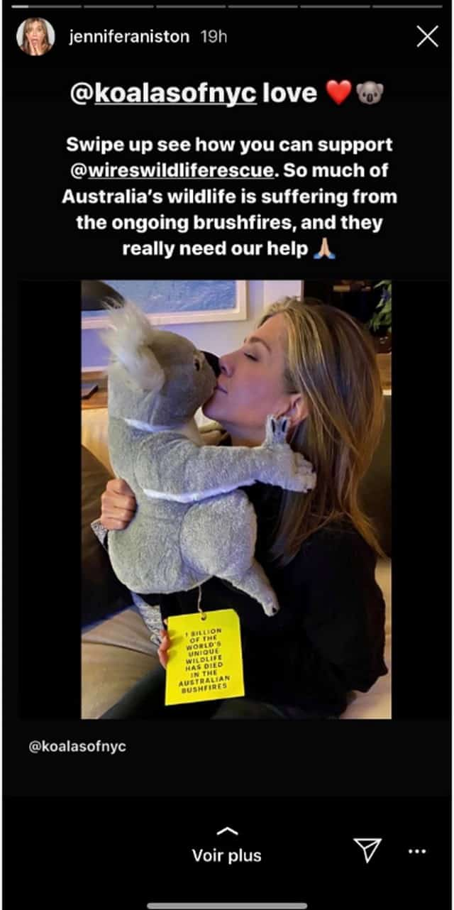 Jennifer Aniston concernée par les incendies en Australie: elle se mobilise !