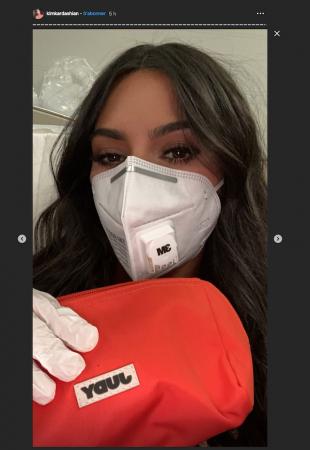 Kim Kardashian craint-elle le coronavirus ? Elle s'équipe d'un masque !