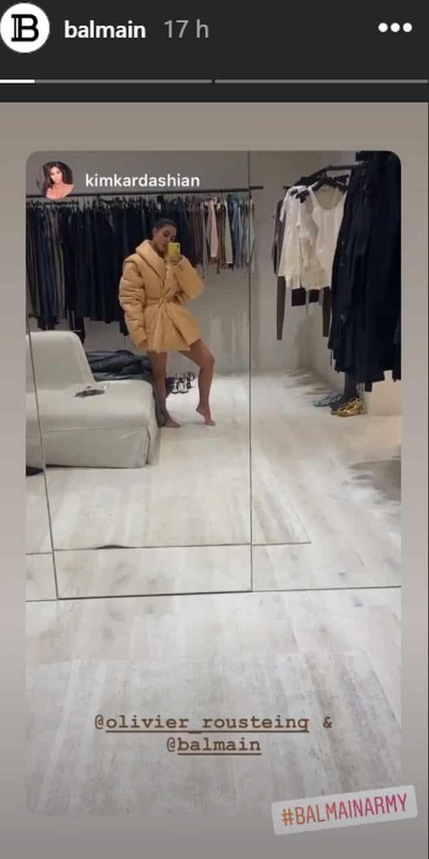 Kim Kardashian fan de mode: elle pose dans une célèbre marque française !