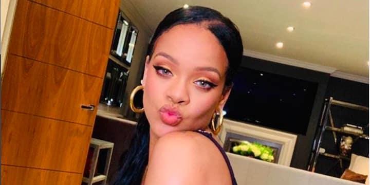 Rihanna radieuse elle ose le total look orange08022020