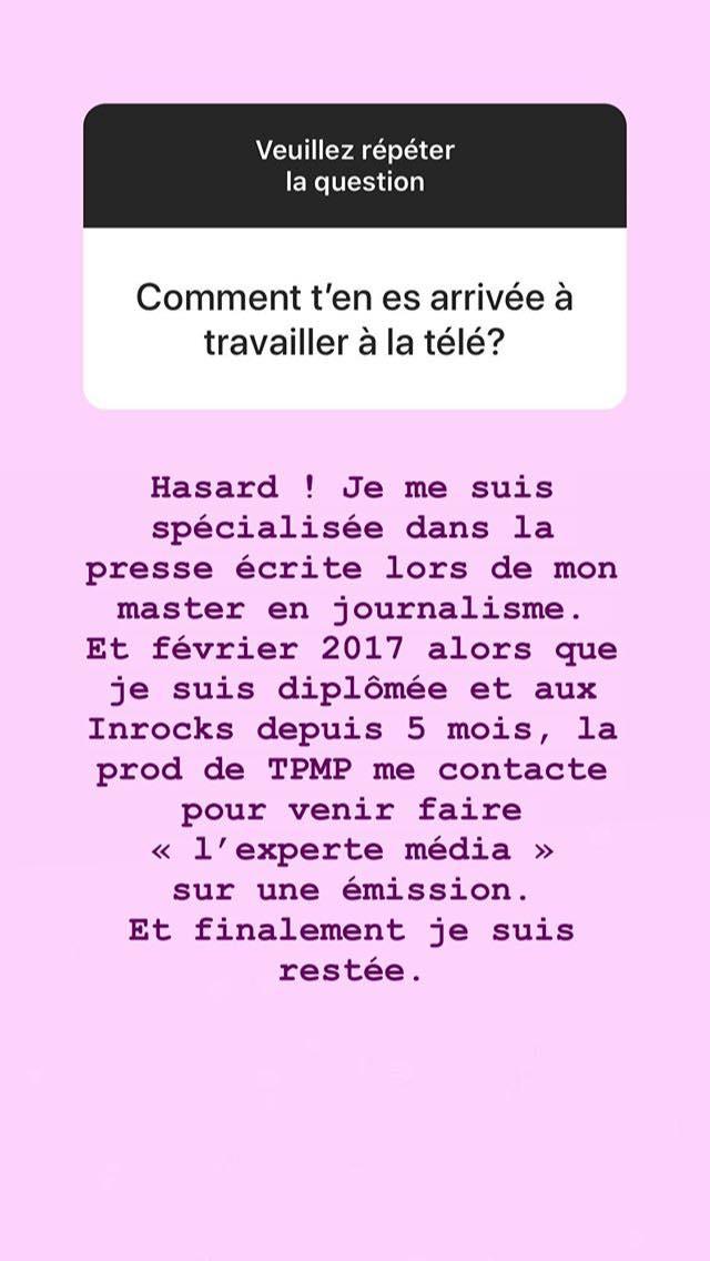 """Agathe Auproux dans TPMP par """"hasard"""": elle revient sur son parcours !"""