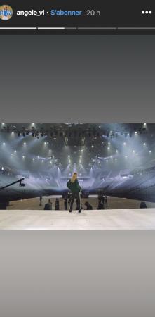 Angele bientot a l'AccorHotels Arena- elle enchaine les repetitions !