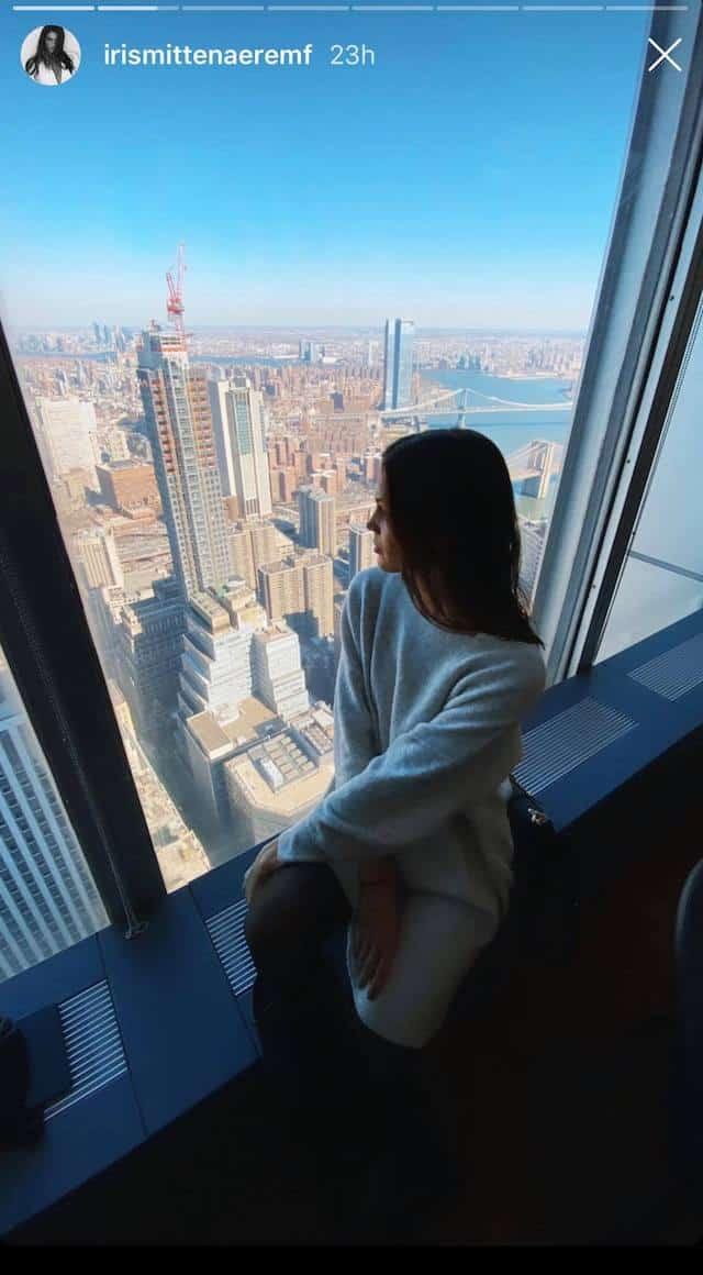 Iris Mittenaere à New-York: elle profite d'une vue à couper le souffle !