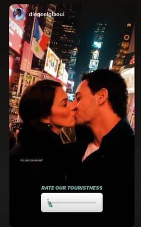 Iris Mittenaere et Diego El Glaoui: gros bisou a Time Square ! (PHOTO)