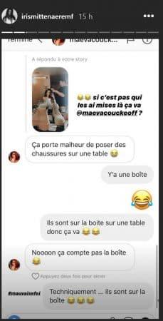 Iris Mittenaere: son amie Maëva Coucke est très superstitieuse !