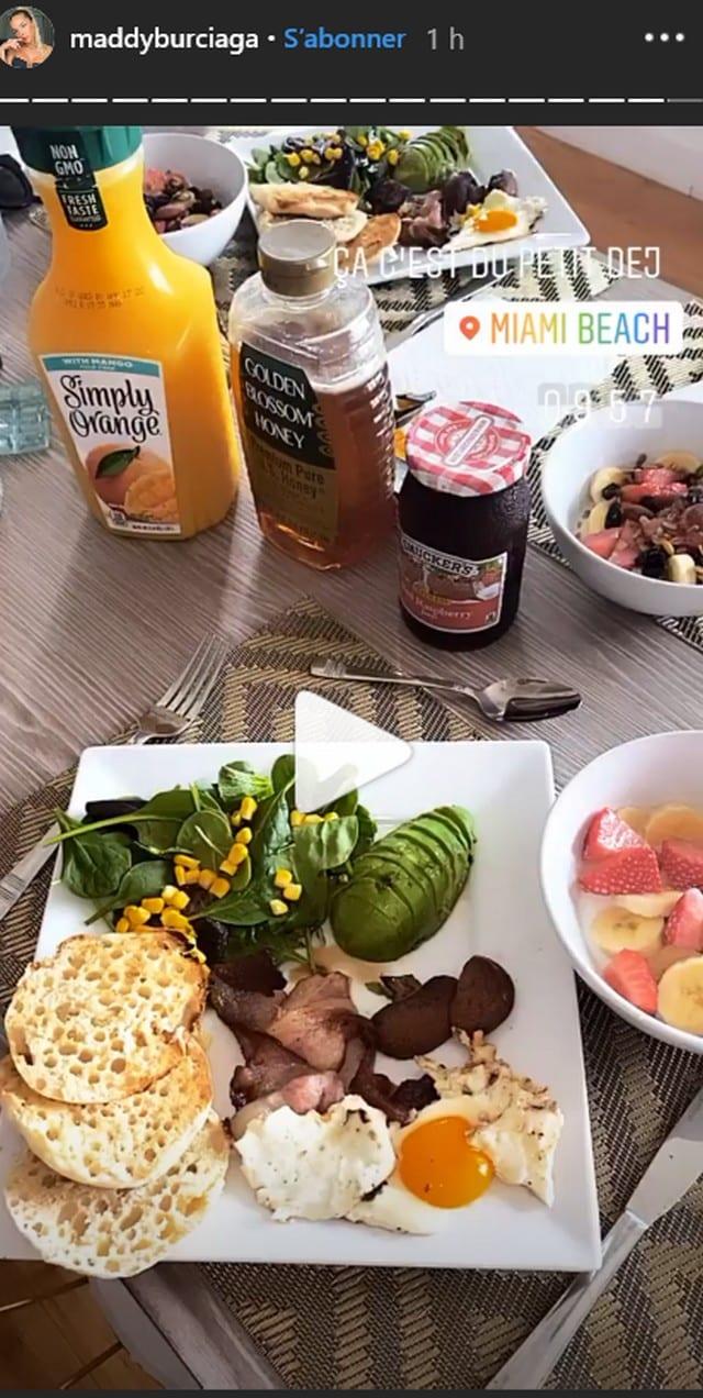Maddy Burciaga a Miami son petit-déjeuner XXL va vous mettre l'eau a la bouche !