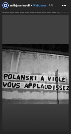 Milla Jasmine s'élève contre Roman Polanski sur Instagram