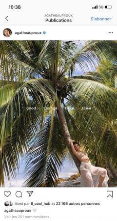 Agathe Auproux dévoile ses souvenirs aux Antilles en bikini !