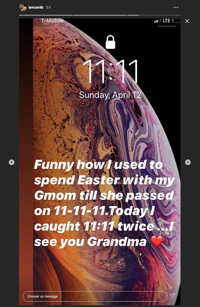 Cardi B très triste de ne pas fêter Pâques avec sa grand-mère !