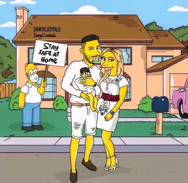 Carla Moreau et Kevin Guedj s'affichent en mode Simpson sur Instagram !