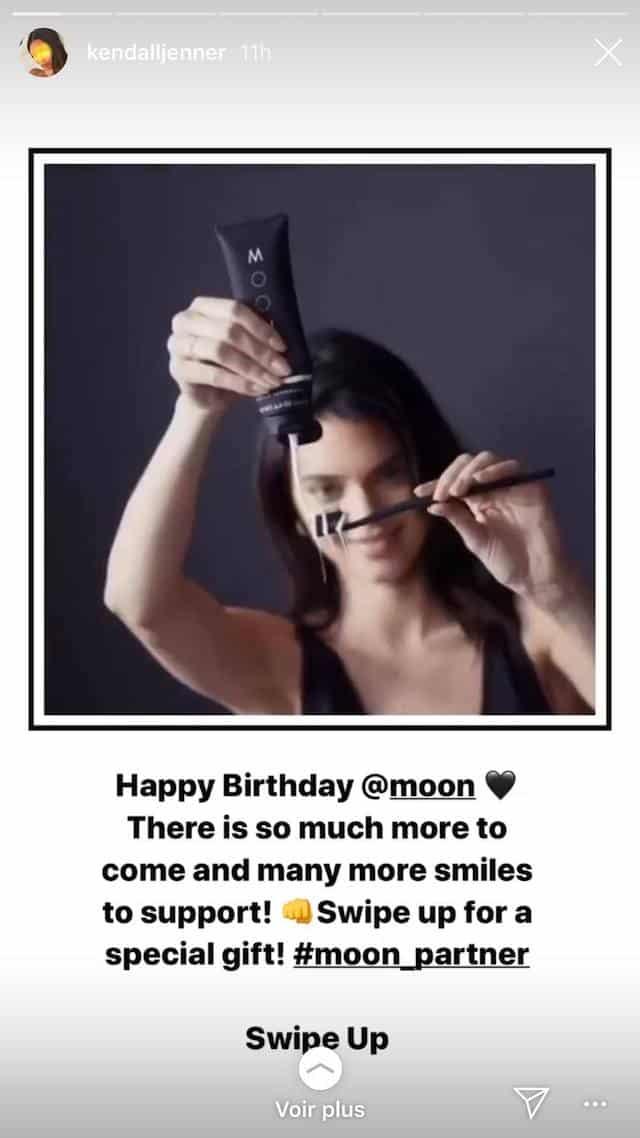 Kendall Jenner fête l'anniversaire de sa marque de dentifrice !