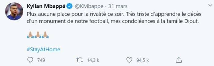 Laeticia Hallyday très touchée par ce message du footballeur Kylian Mbappé !