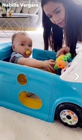 Nabilla: son petit Milann est déjà propriétaire d'une voiture !