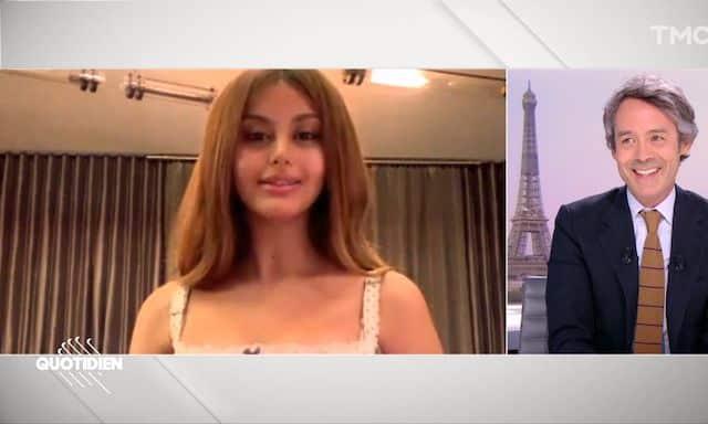 Zahia Dehar choque les télespectateurs de Quotidien avec son attitude 640