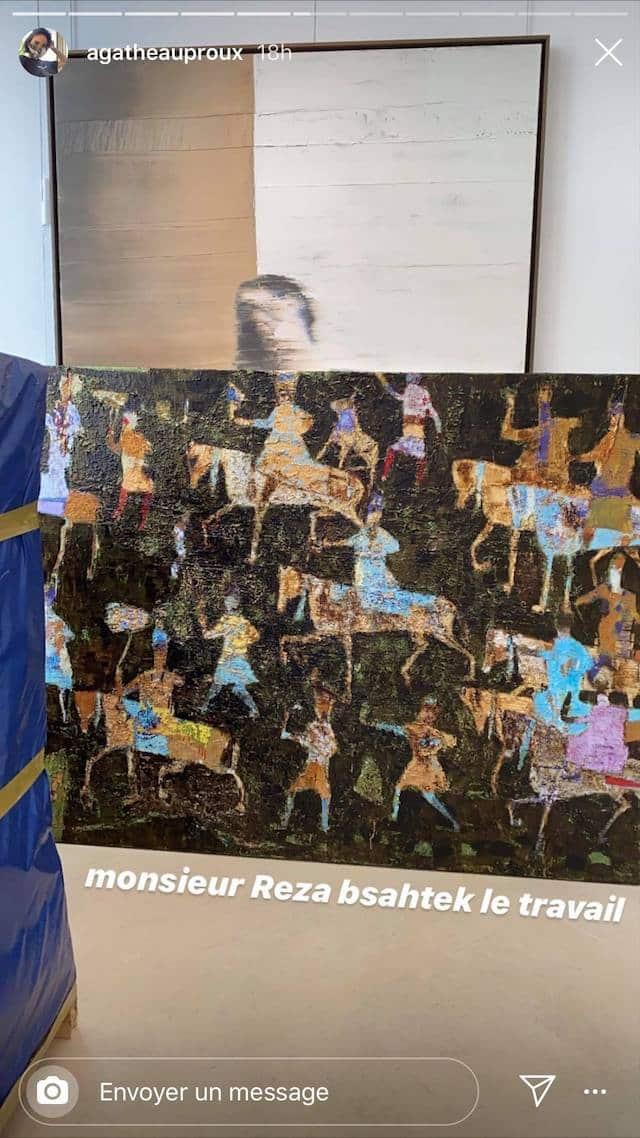 Agathe Auproux adore le travail de l'artiste Reza Derakshani !