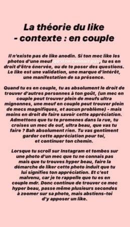 """Agathe Auproux clashée sévèrement sur sa """"théorie du like en couple"""" !"""