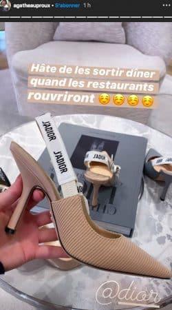 Agathe Auproux craque totalement et dévalise la boutique Dior !