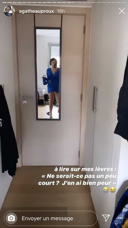 Agathe Auproux dans une robe trop courte «J'oserais jamais la porter» !