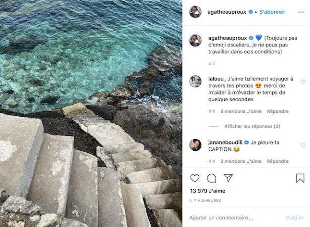 Agathe Auproux dévoile ses talents de photographe sur Instagram !