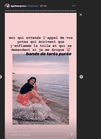 Agathe Auproux se sent harcelée par les médias