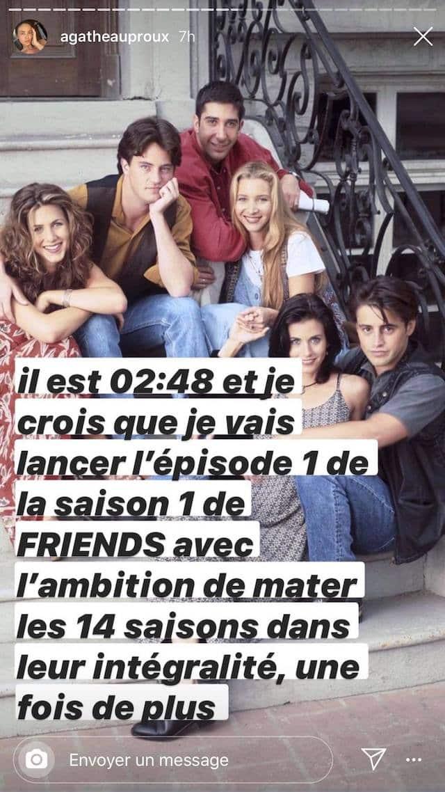 Agathe Auproux totalement fan de la série Friends !