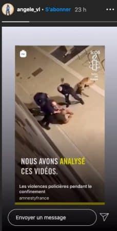 Angèle s'engage dans la lutte contre les violences policières !