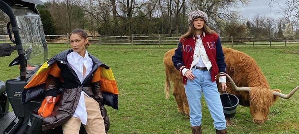 Bella et Gigi Hadid passent leur confinement dans la ferme familiale 1000