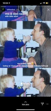 Billie Eilish dévoile de belles photos enfant avec son père sur Instagram 640