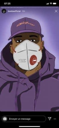 Booba dévoile une belle illustration de lui avec un masque sur le visage 640
