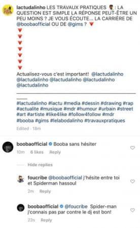 Booba s'en prend à la carrière de Maître Gims sur Instagram !