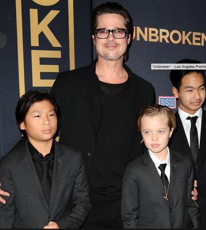 Brad et ses enfants