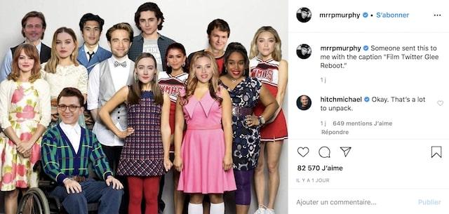 Brad Pitt bientôt dans la série Glee avec Timothée Chalamet ?