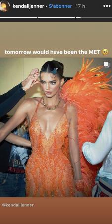 Kendall Jenner: la soeur de Kylie regrette beaucoup le Met Gala !