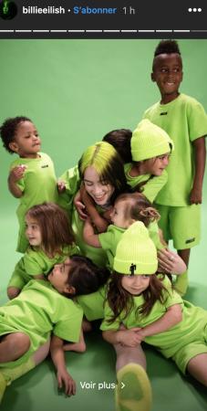 Billie Eilish dévoile sa collection de vêtements pour enfants !