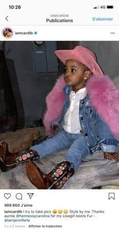 Cardi B dévoile une adorable photo de Kultude en mode cowgirl !