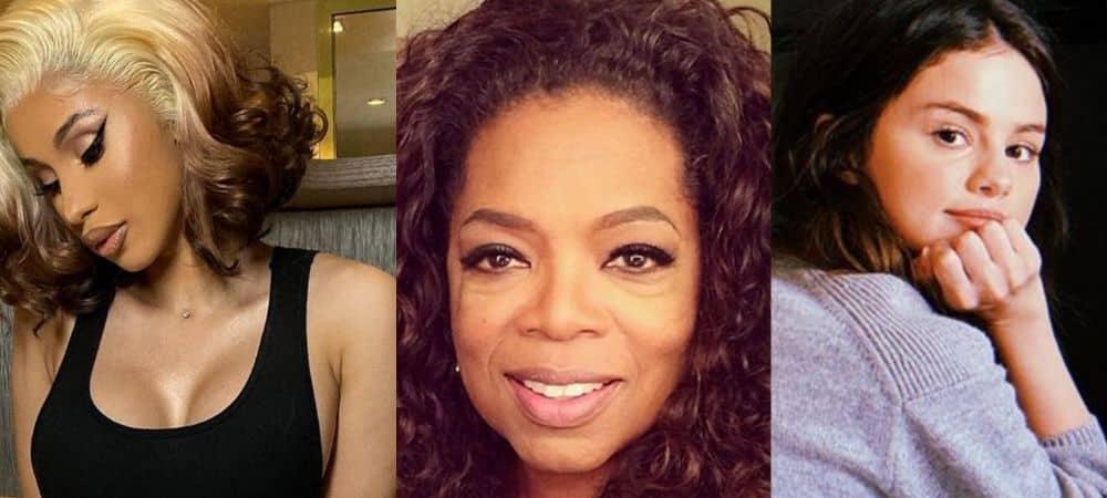 Cardi B et Selena Gomez rejoignent Oprah Winfrey en live Facebook !