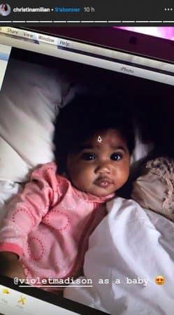 Christina Milian dévoile une photo adorable de Violet bébé