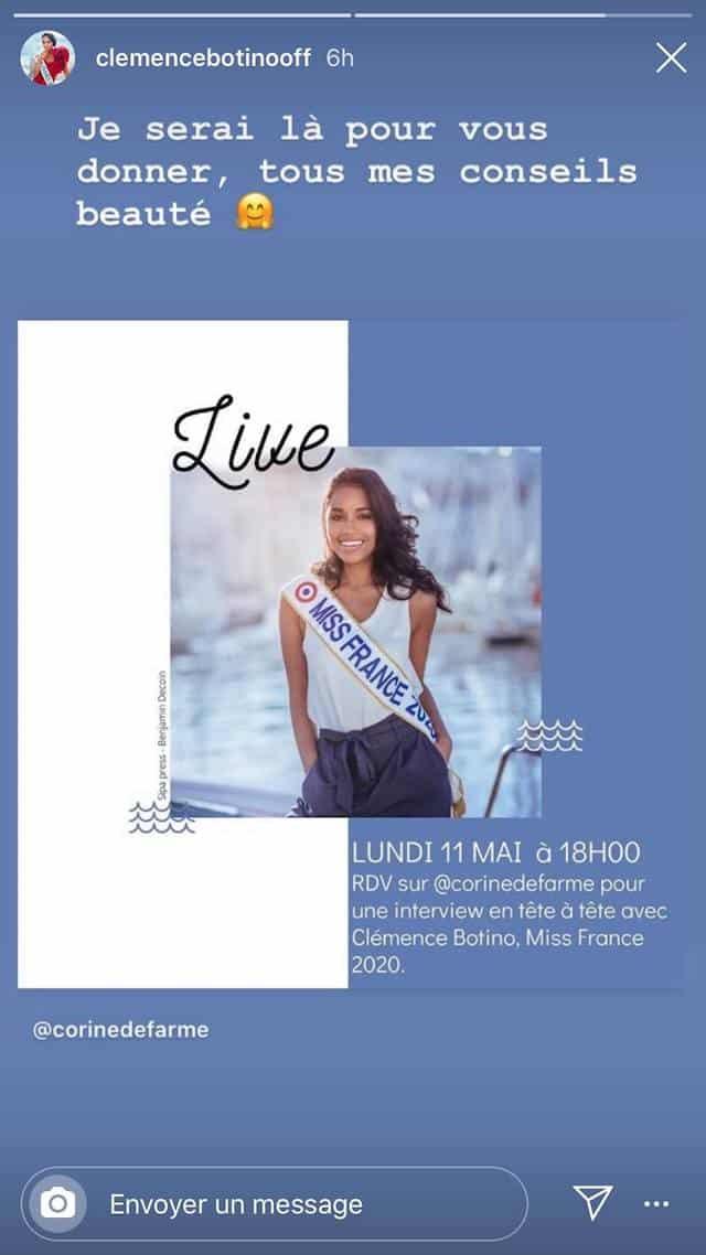 Clémence Botino (Miss France) délivre ses conseils beauté !