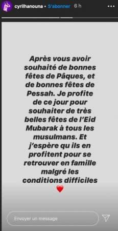 Cyril Hanouna fête une bonne fin de ramadan à ses fans sur Twitter !