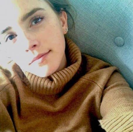 Un (rare) selfie d'Emma Watson sur Instagram